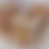 Sautoir perles de verre rouge estampe  argentée