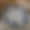 Bracelet perles rondes petits pois gris
