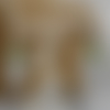 Boucles d'oreille feuille turquoise, orange et jaune