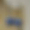 Boucles d'oreille mosaïque bleu marine et gris