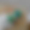 Bague double cabochon turquoise vert