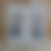 Boucles d'oreille crochet bleu marine