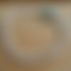Bracelet une perle marbré bleu vert et ecru