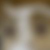Boucles d'oreille estampe marron