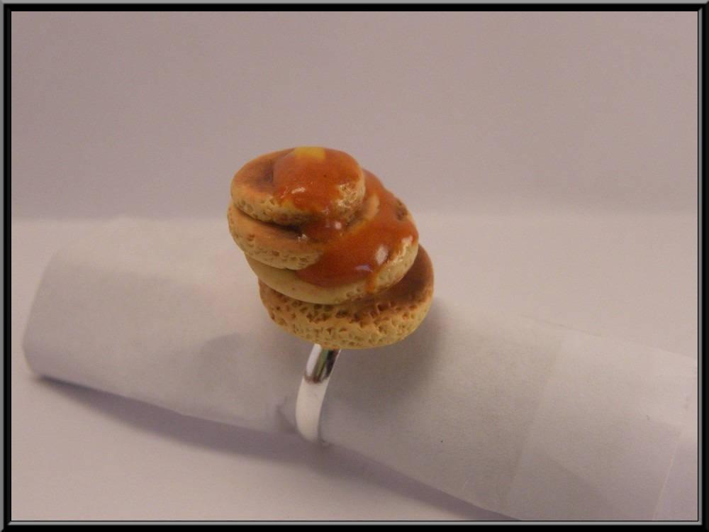 Bague pancakes en Fimo