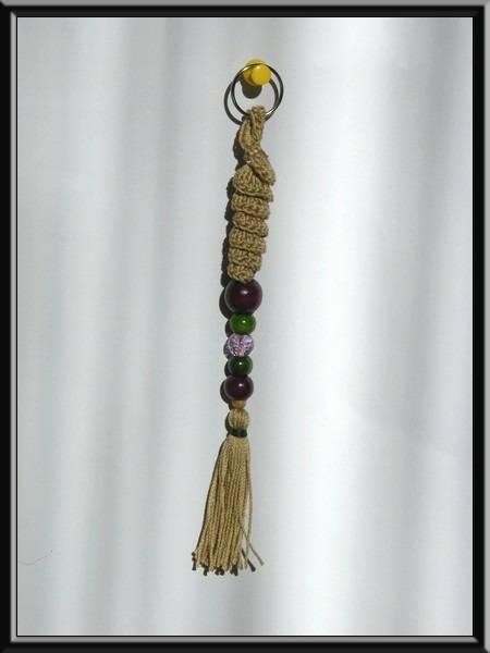 Porte clés réalisé au crochet Coton