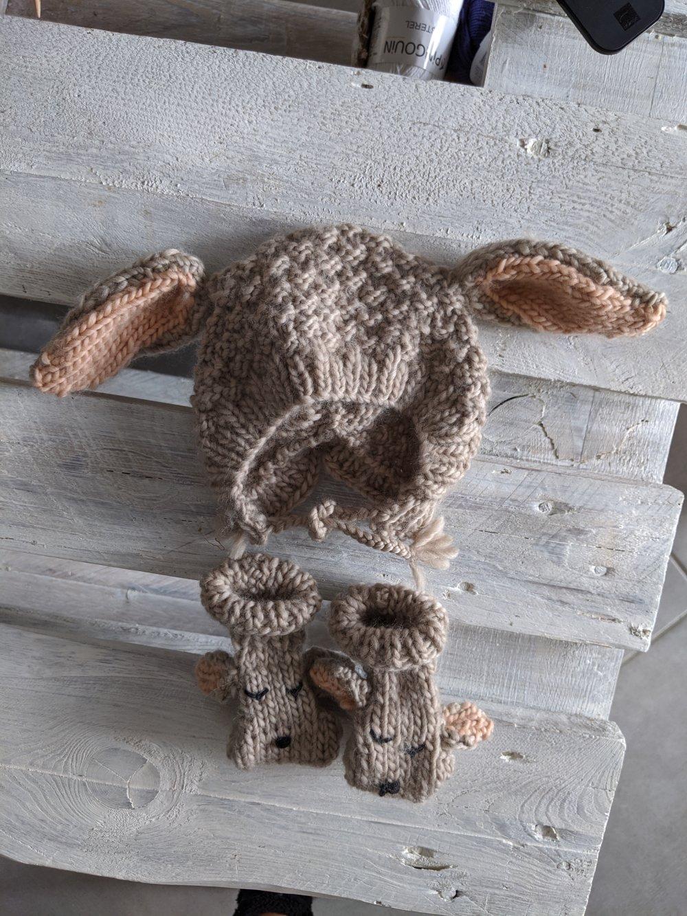 Chaussons oreille de lapin