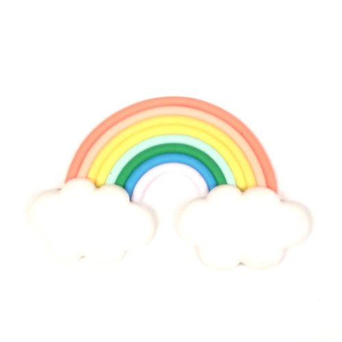 Arc-en-ciel pâte polymère - couleurs pastel