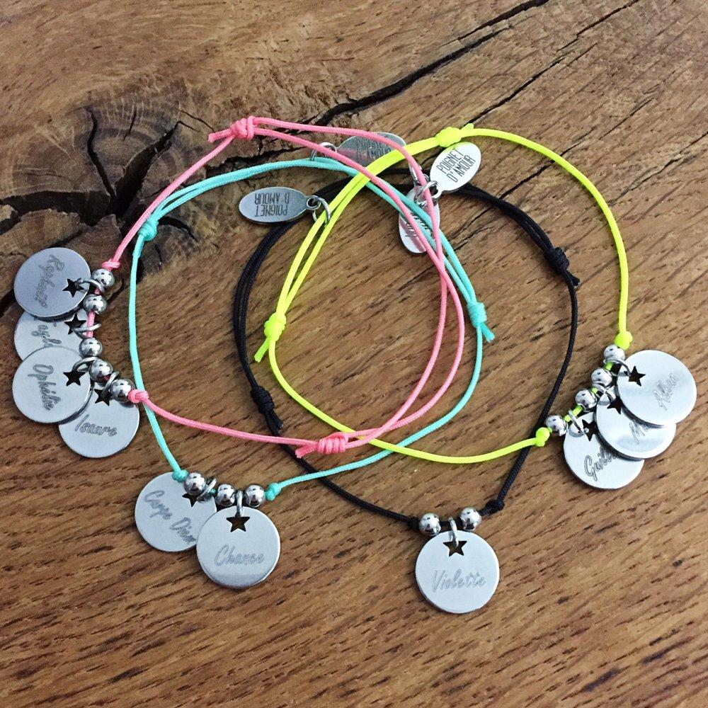 Bracelet cordon à personnaliser