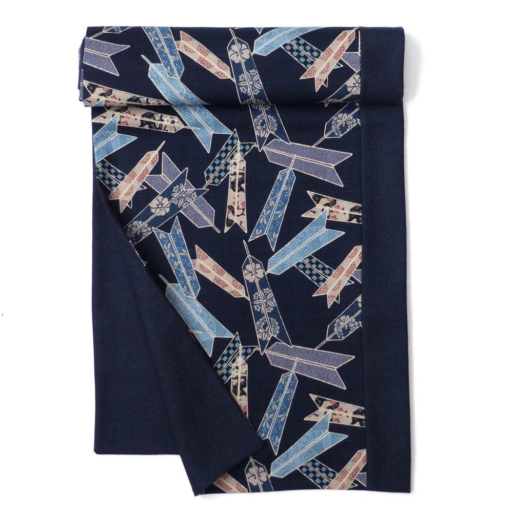 Echarpe Classique Bleu Marine, Laine Coton, Patchwork Uni / motif décoratif