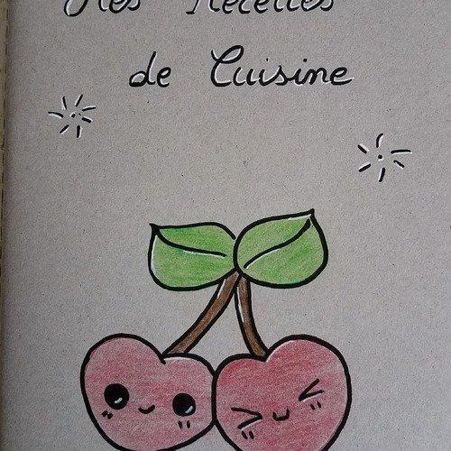 Carnet a5 cahier de recettes de cuisine