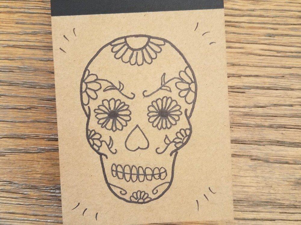 bloc note décoré cahier d'idées