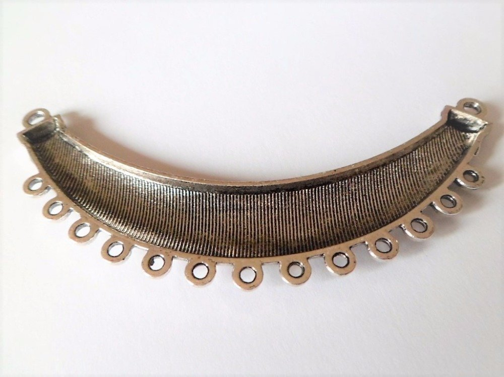 Intercalaire chandelier courbé couleur argent antique