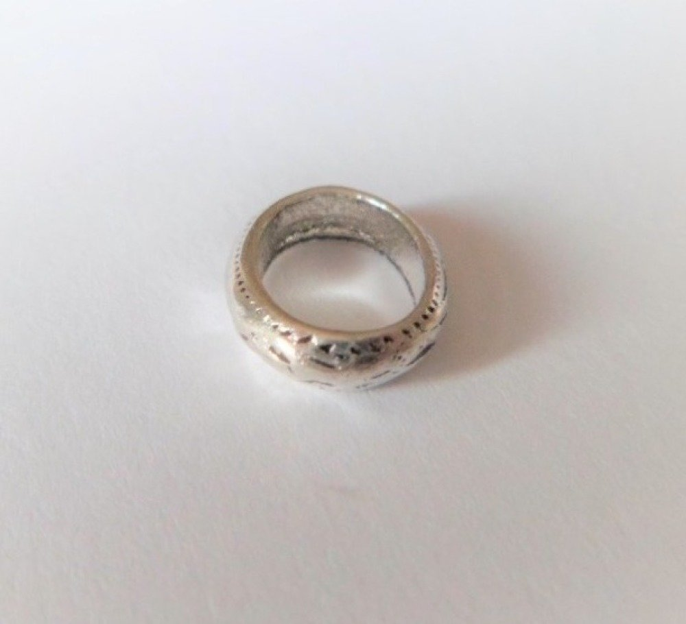 Anneaux connecteurs ovales argent antique