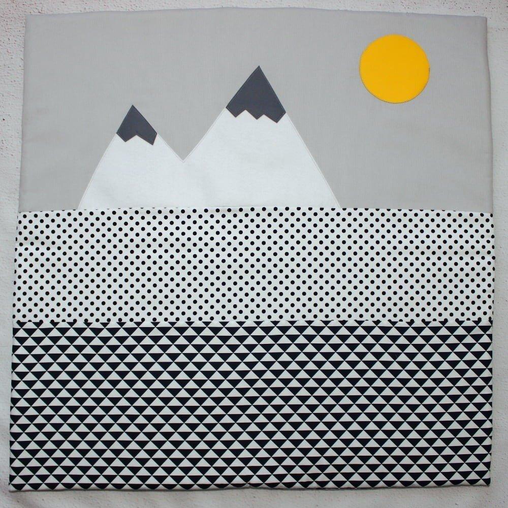 Tapis Eveil Bébé, Décoration Chambre Bébé, Noir & Blanc, Cadeau Naissance, Chambre enfant style scandinave
