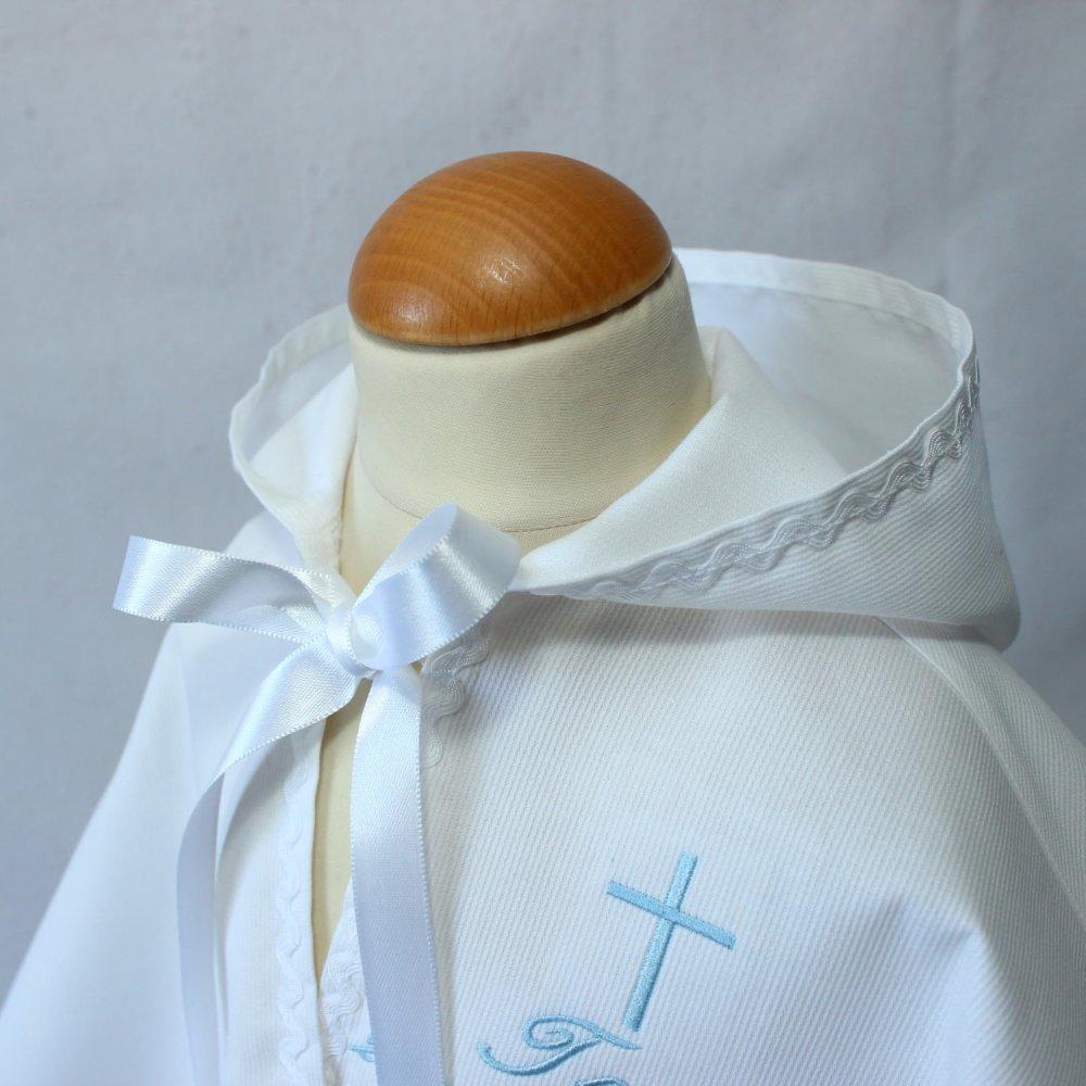 Cape Baptême personnalisée pour bébé, Baptême Garçon, Tenue cérémonie bébé enfant