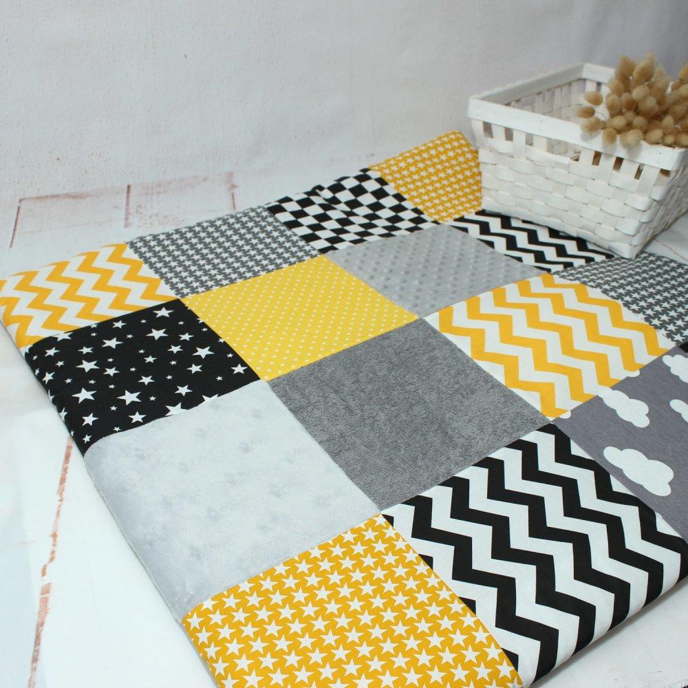 Couture Tapis De Sol Bébé tapis d'éveil sensoriel pour bébé, tapis activite montessori, matelas tapis  de sol bébé, cadeau naissance, materiel montessori
