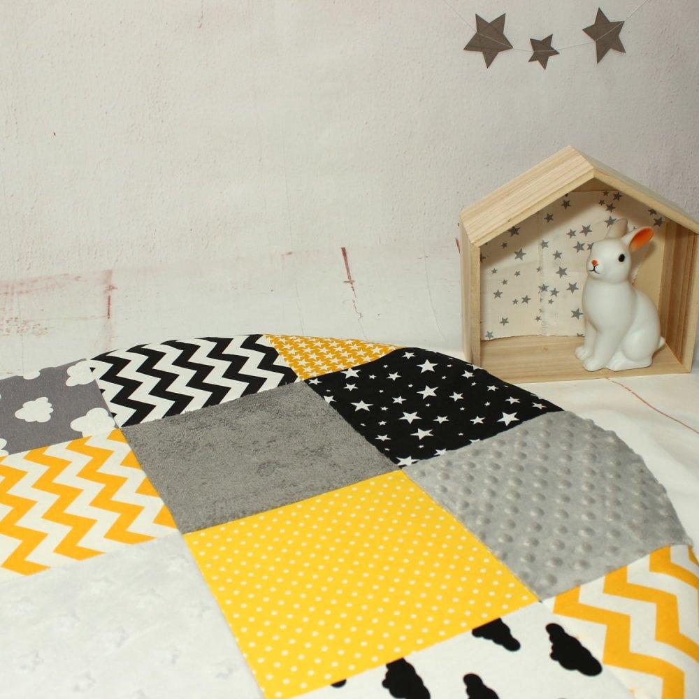 Tapis d'éveil, Montessori, Décoration chambre bébé enfant, Matelas de sol en cotton pour bébé