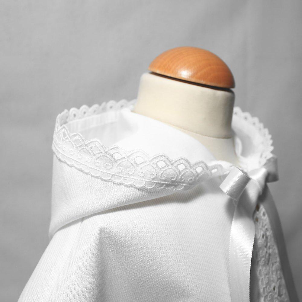 Cape Baptême blanche avec capuche pour bébé garçon, Baptême Bébé Garçon, Cape cérémonie blanche