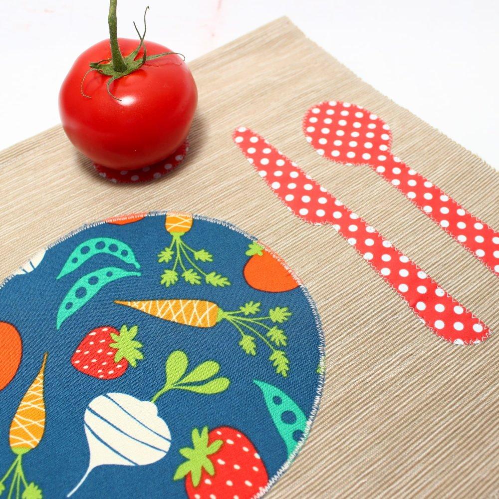 Set de table coton, Montessori bébé enfants, Materiel Montessori, Cadeau Naissance