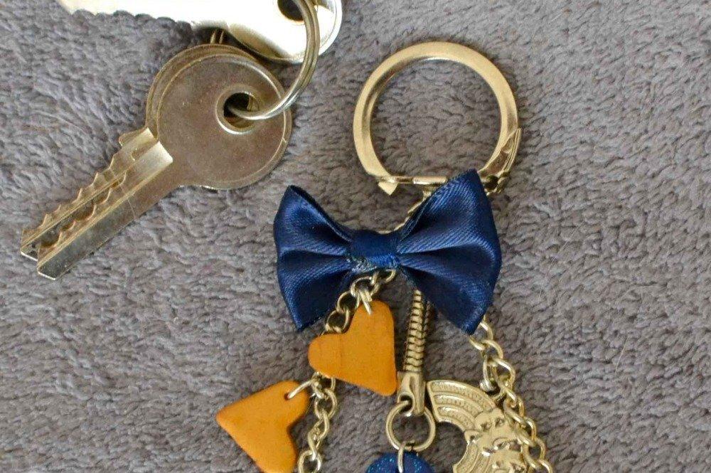 Porte-clés cœur fimo