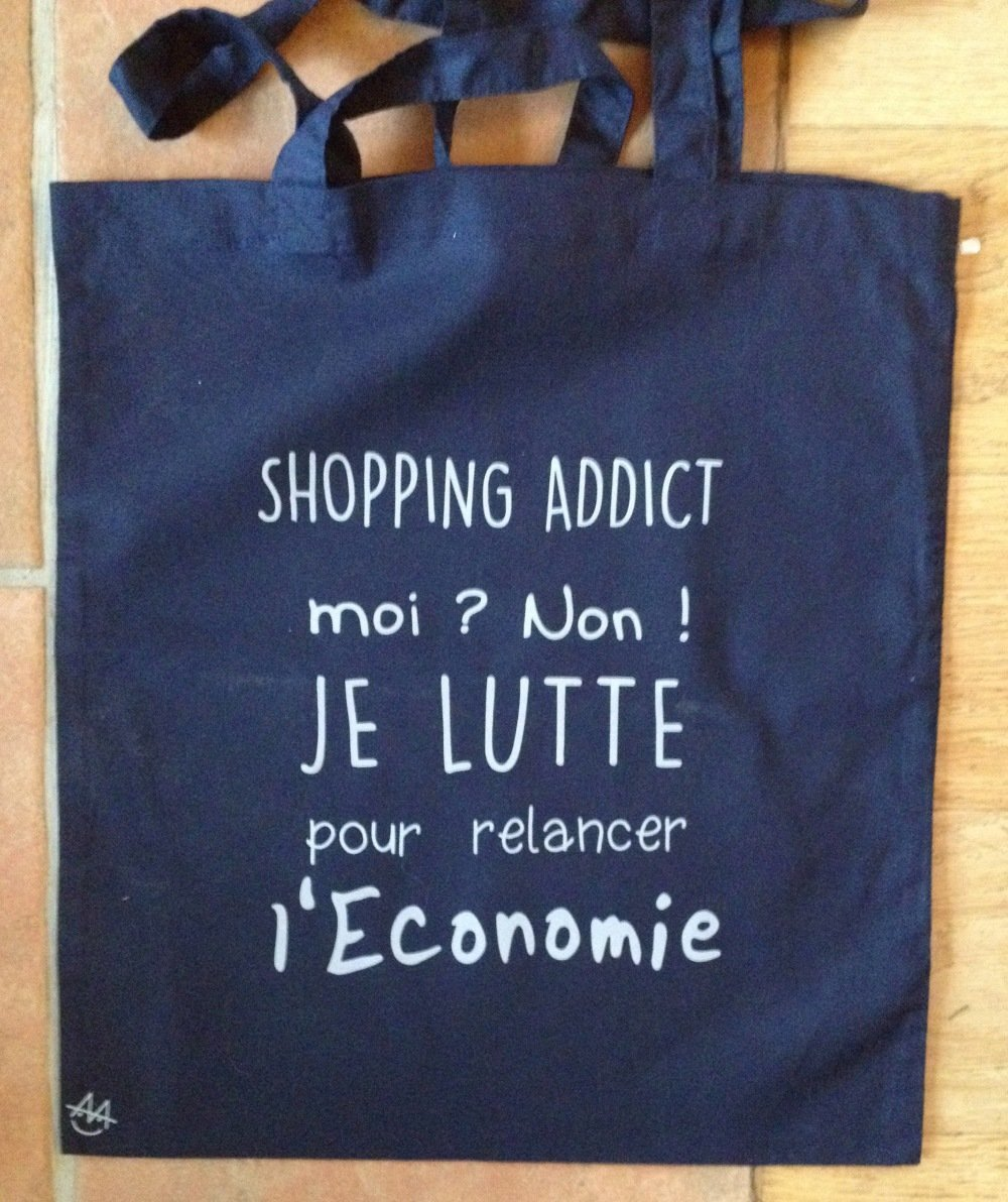 Tote Bag shopping addict