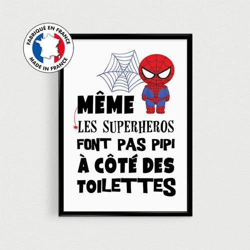 Poster Super Héros Pour Enfant Même Les Superhéros Font Pas