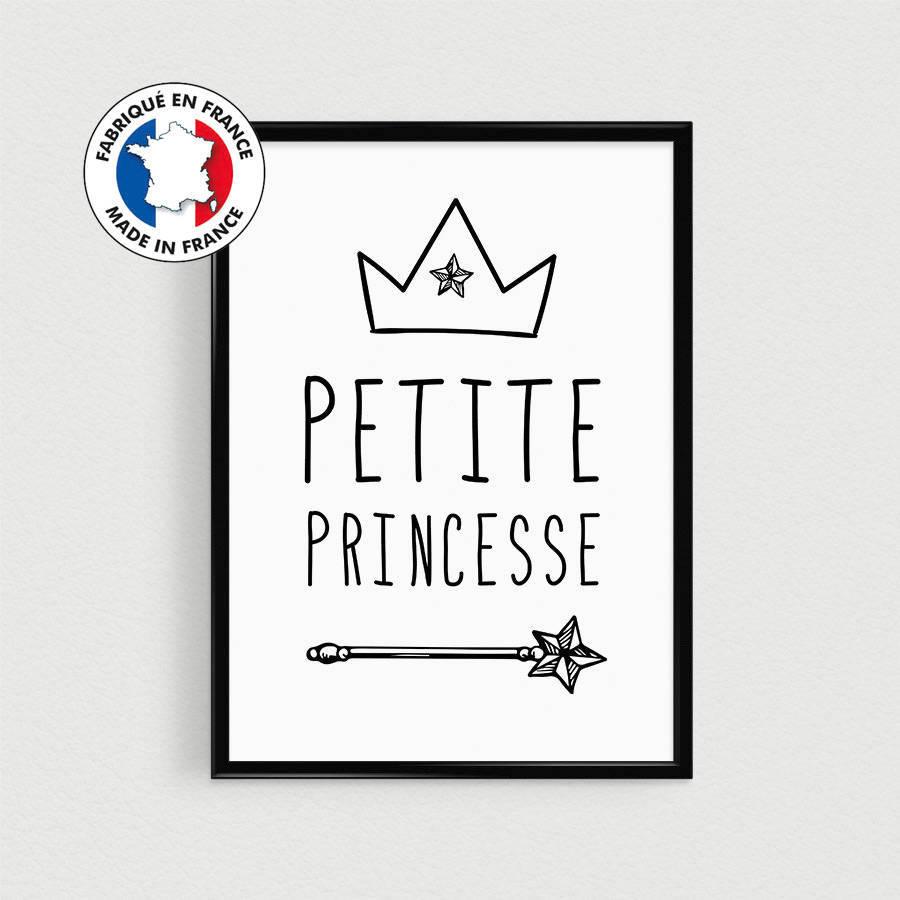 Image Pour Mettre Dans Un Cadre affiche citation en français - princesse enfant dans l'esprit scandinave à  mettre dans un cadre (poster nurserie et chambre de bébé)
