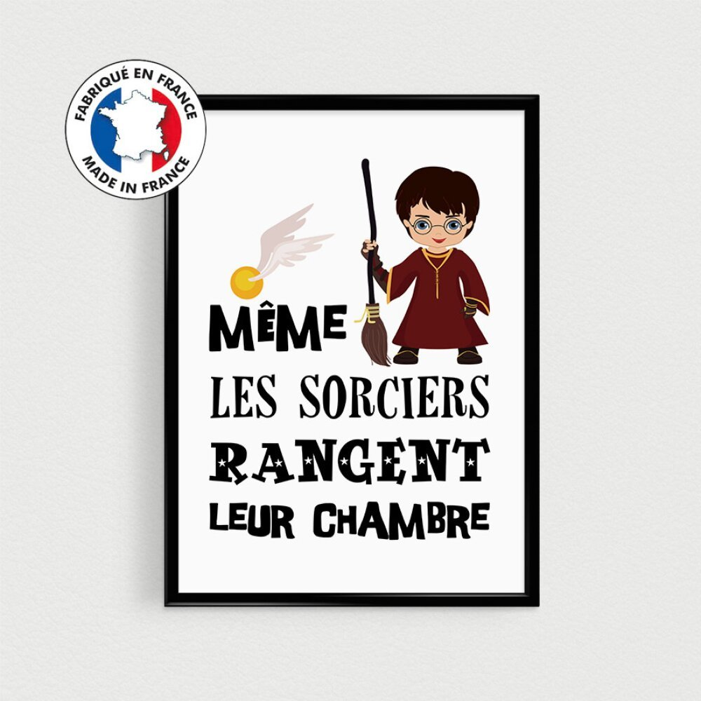 Posters de citations sorciers pour décoration chambre d'enfant,