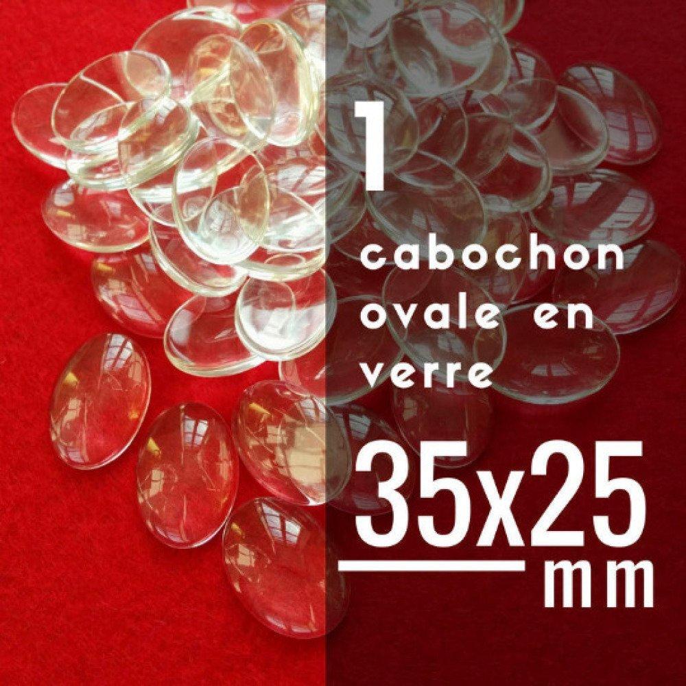 10 Cabochons Dôme en Verre Carré Transparent 25mm x 25mm