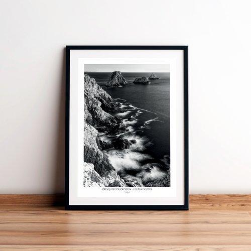 Affiche / poster - les tas de pois, presqu'île de crozon, finistère, bretagne. imprimée sur papier satiné 250 g/m2.