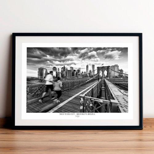 Affiche / poster - brooklyn bridge, new-york city. imprimée sur papier satiné 250 g/m2.