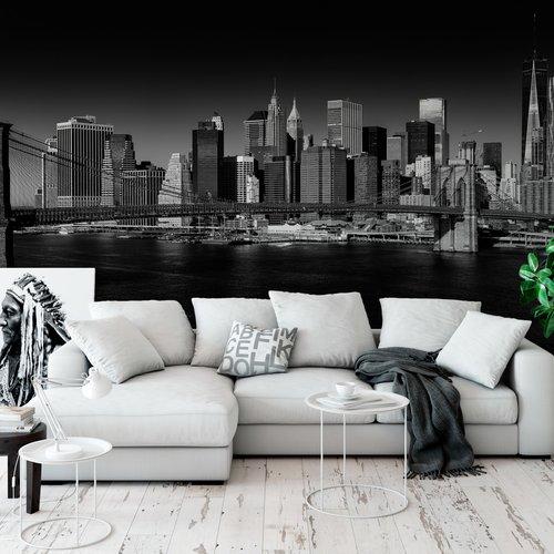 Lower Manhattan Et Pont De Brooklyn Impression Grand Format Sur Vinyle Adhesif Un Grand Marche