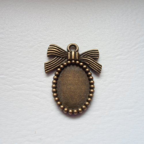 Pendentif / camee support pour cabochon bronze