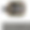 Boucle avec motifs decoratifs a ardillon avec chape laiton vieilli