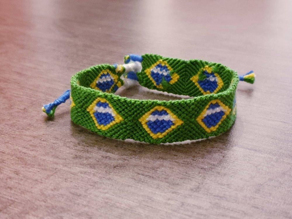 Bracelet brésilien édition Coupe du monde 2019 BRESIL