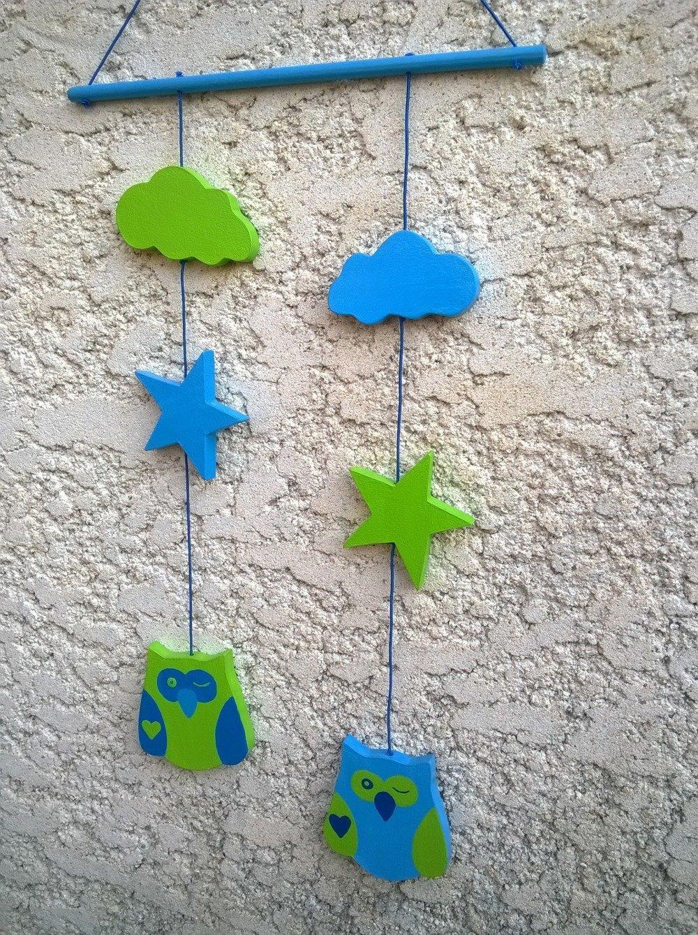 décoration chambre d'enfant mobile chouettes