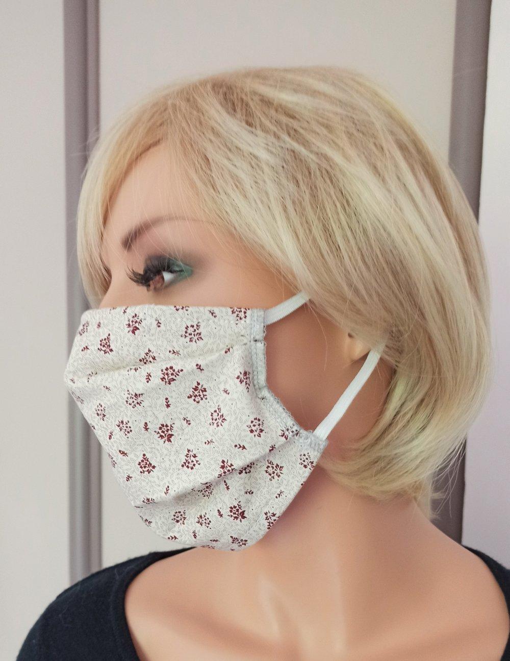 Masque tissu réalisé aux normes AFNOR, lavable et réutilisable - M10