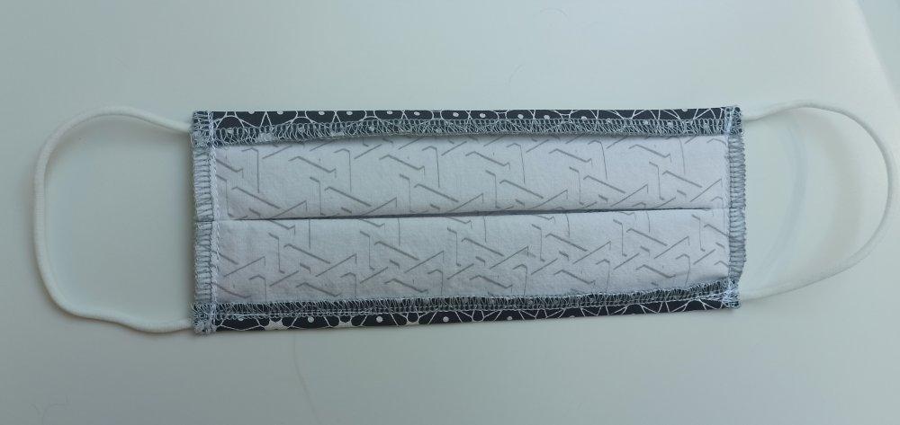 Masque tissu réalisé aux normes AFNOR, lavable et réutilisable