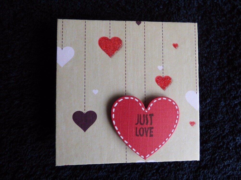 """bloc décoré pour post-it """"just love"""""""