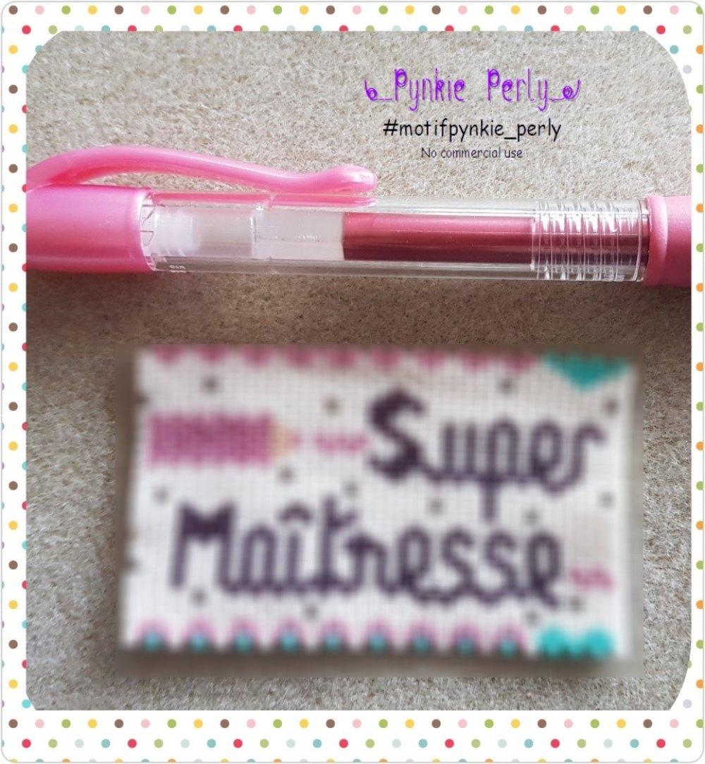 "Diagramme Cover Pen ""Super Maîtresse"""