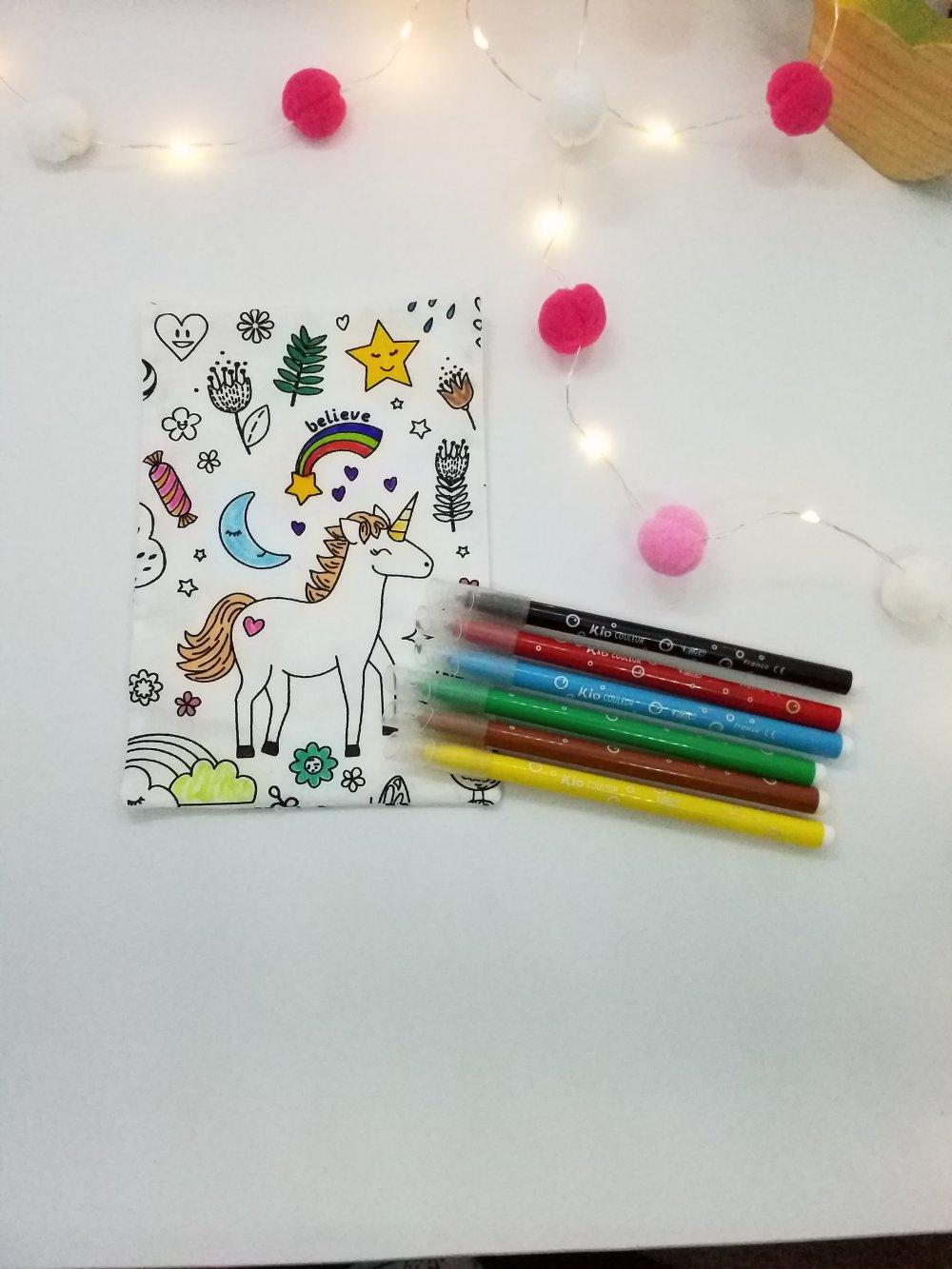 Trousse de coloriage lavable