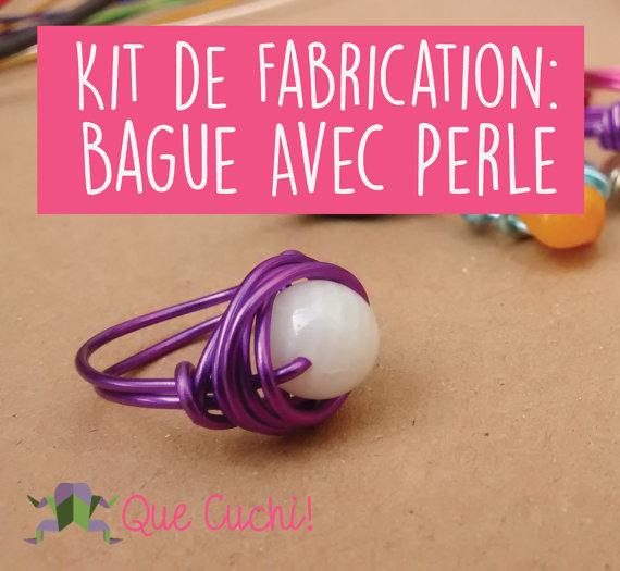 Kit de Fabrication: Bague avec Perle
