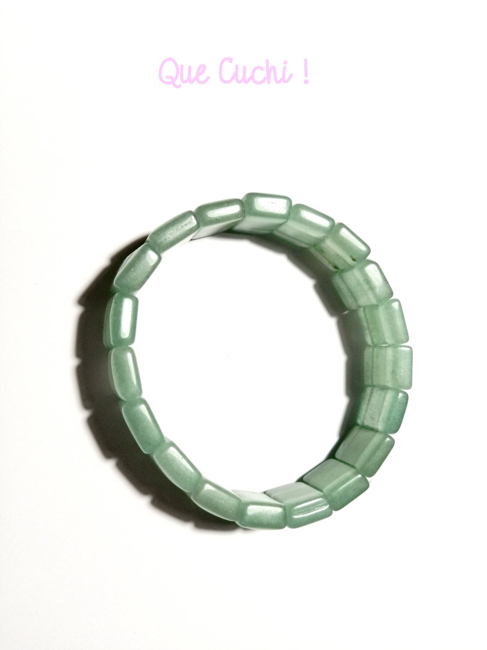 Bracelet perles carrées d'Aventurine verte