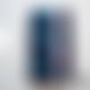 Agenda a6 2021 / wax - bleu et vio / 10x15 cm
