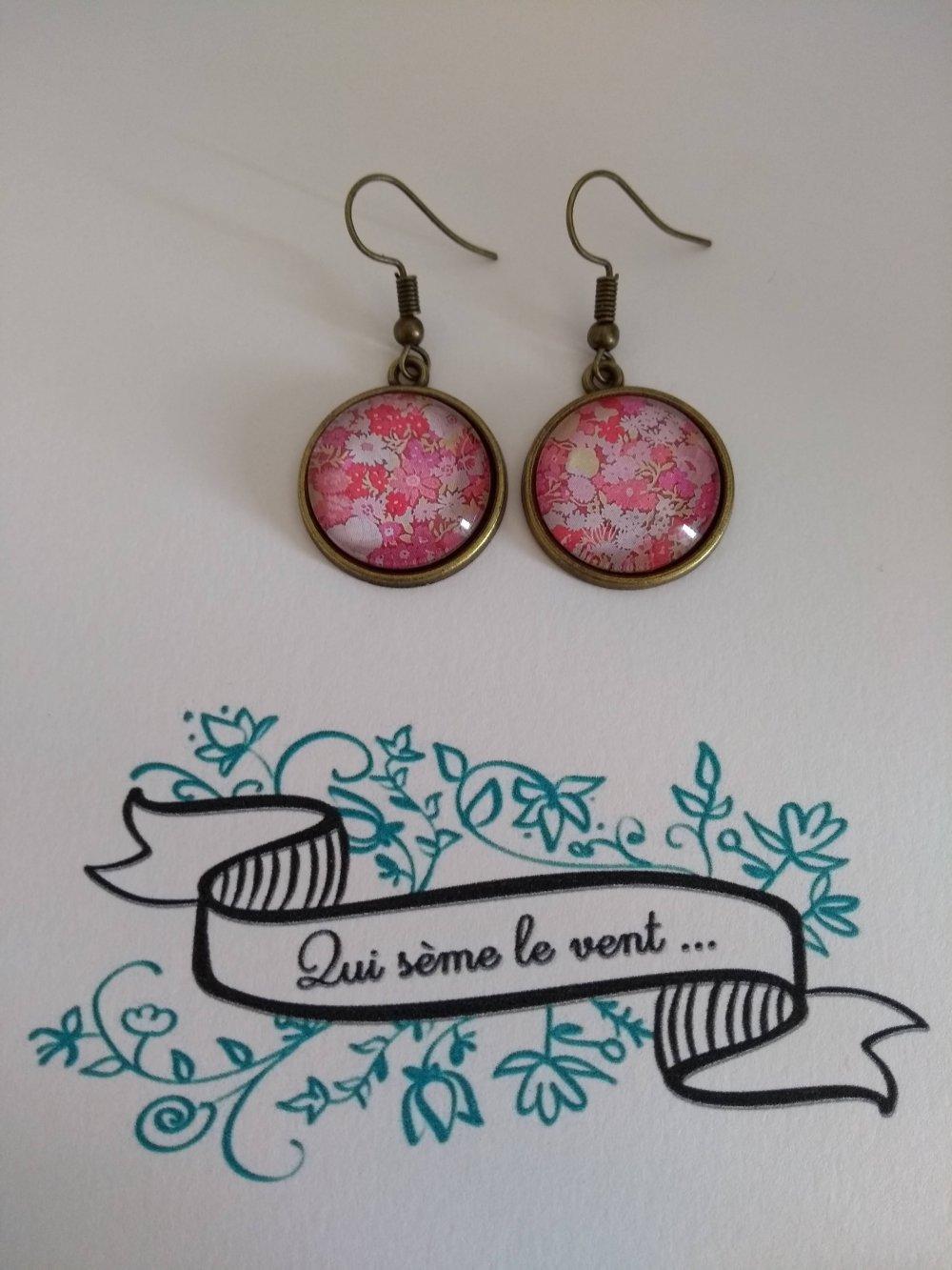 Boucles d'oreilles Pink Liberty