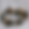 Bracelet noir, doré et argenté