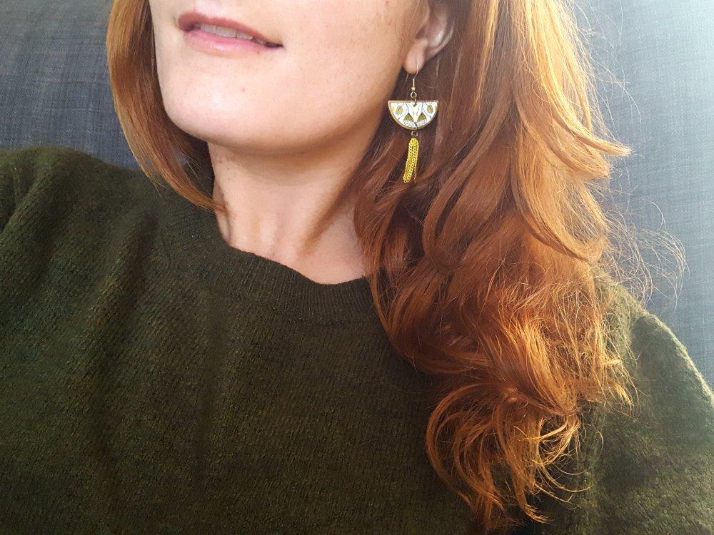 Boucles d'oreilles demi lune - 574