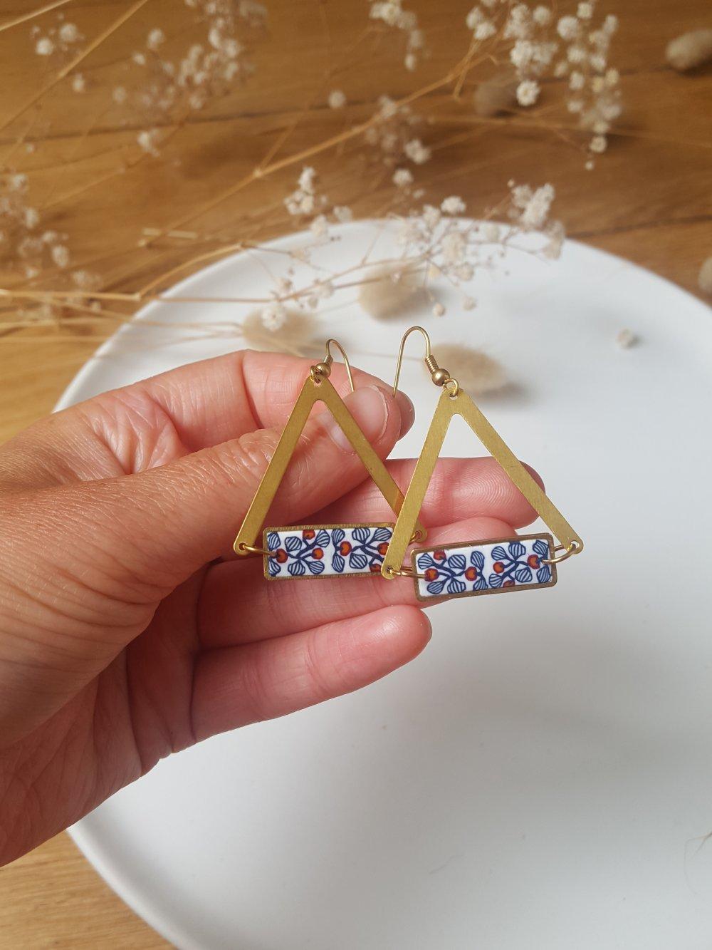 Boucles d'oreilles triangles- 623