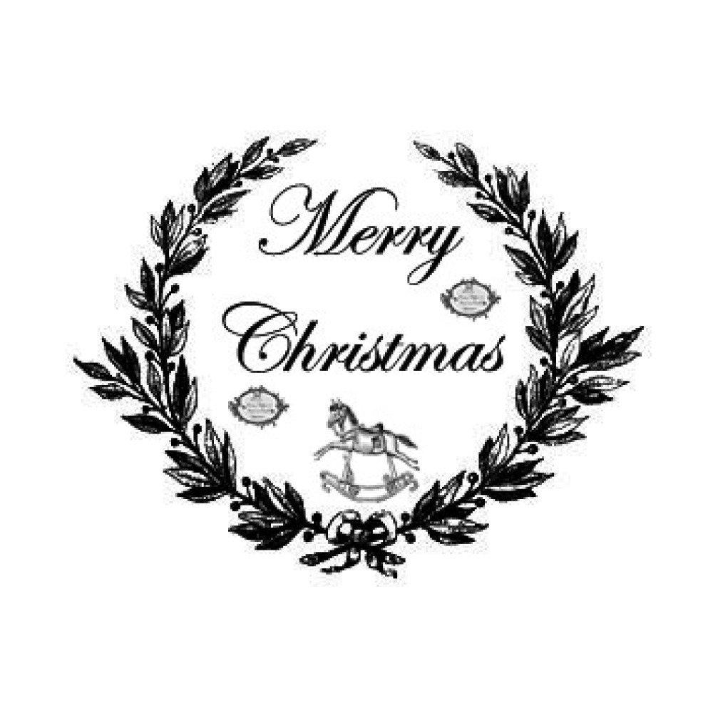 "Transfert à coudre ""Merry Christmas "" GF"